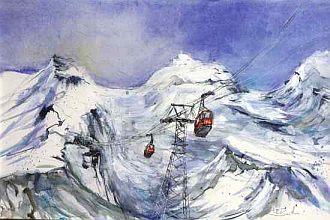 winterlandschaft am Titlis